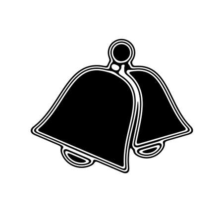 vibrating: The Bell Icon on A white Background.