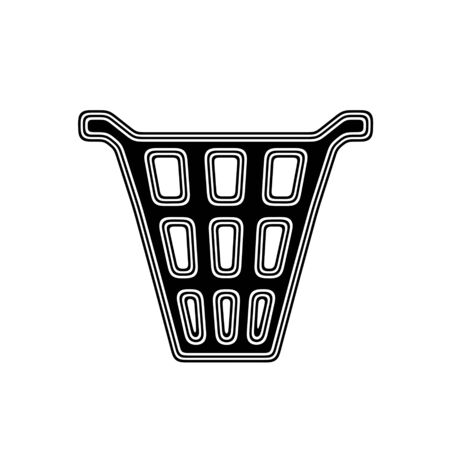 wastepaper: The Trash Icon on A white Background. Stock Photo