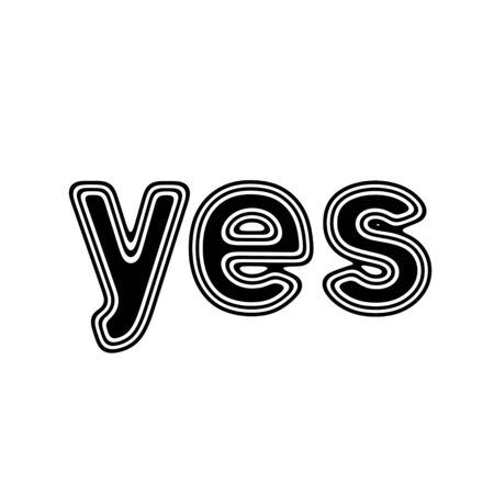 affirm: yes on A white Background.