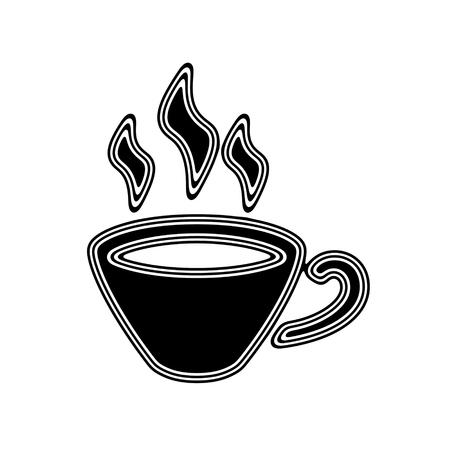 The Coffee Icon on A white Background. Stock Photo