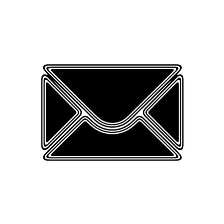 webmail: The E-Mail Icon on A white Background. Stock Photo