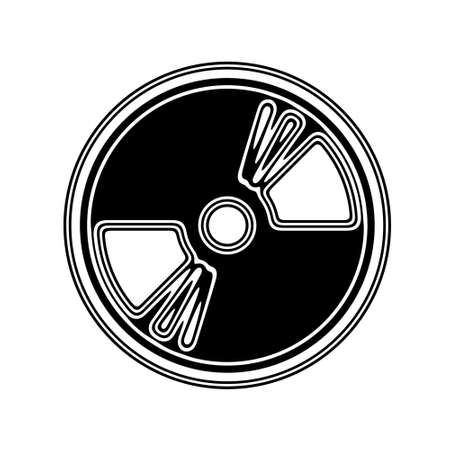 cd recorder: The Disc Icon on A white Background.
