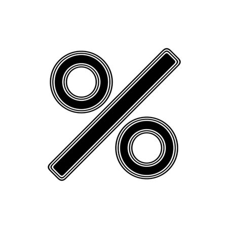 The Percent Icon on A white Background.