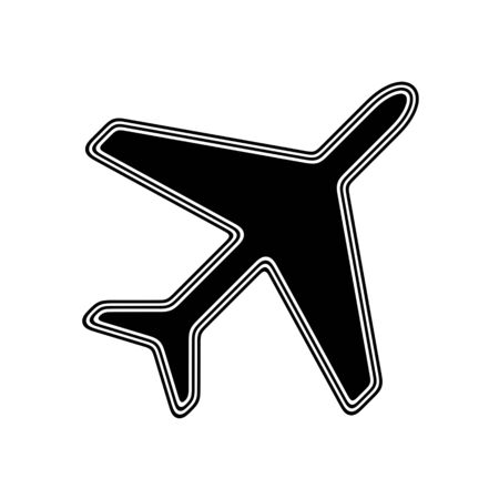 The Flight Icon on A white Background. Stock Photo