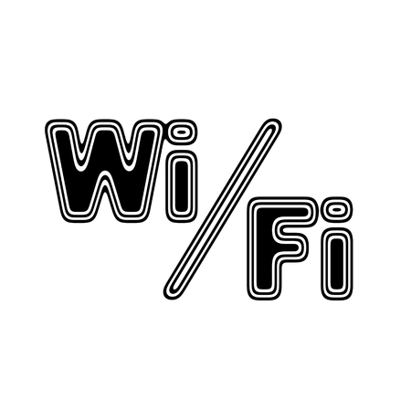 i pad: The Wi-Fi Icon on A white Background. Stock Photo