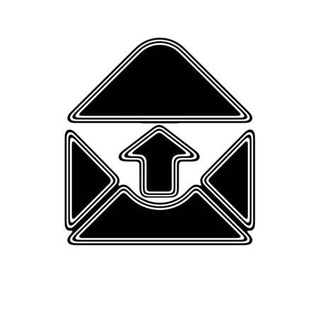 The E-Mail Icon on A white Background. Stock Photo