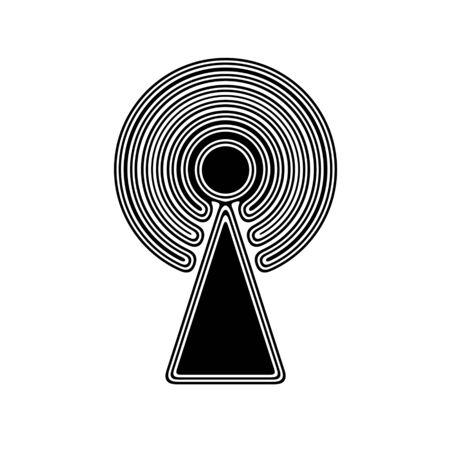 The Antenna Icon on A white Background.