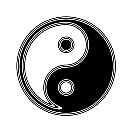 The Ying-Yang Icon on A white Background. Stock Photo
