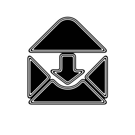 The E-Mail Icon on A white Background. Stock Photo