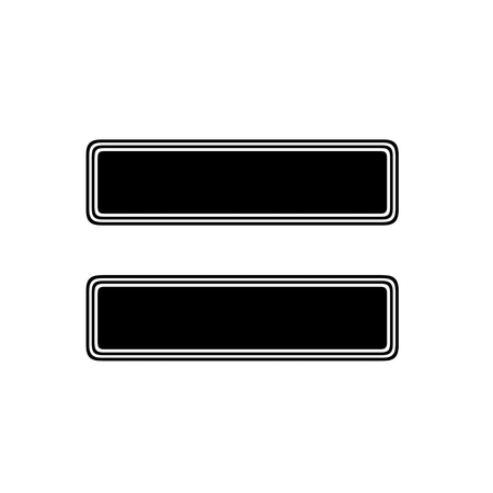 sign equals: The Equals Sign on A white Background.