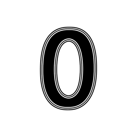 The Number on A white Background.