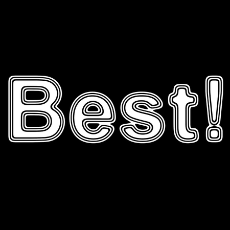 liked: Best! on A black Background. Stock Photo