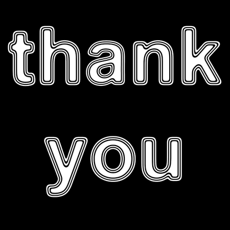 thank you on A black Background.