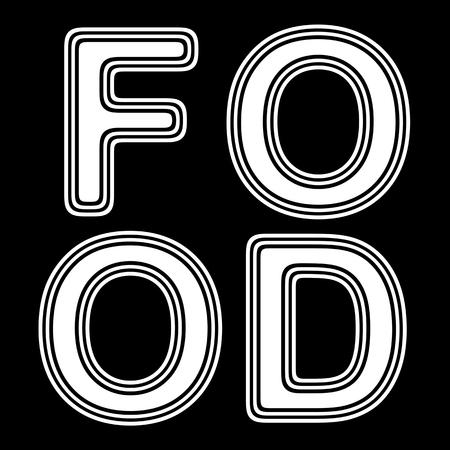 ration: FOOD on A black Background.