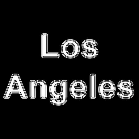 american cities: Los Angeles on A black Background.