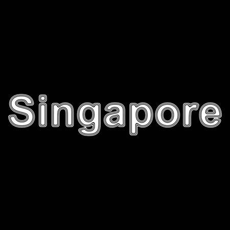 Singapore on A black Background. Stock Photo