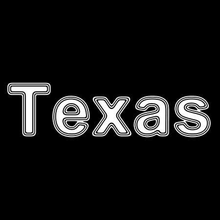 Texas on A black Background.