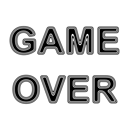 over white: GAME OVER on A white Background.