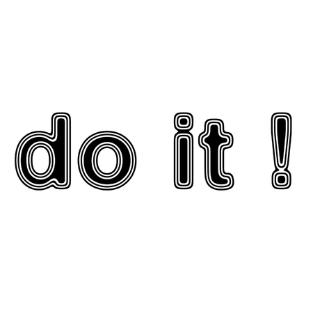 capable: do it! on A white Background.