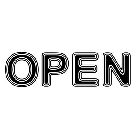 OPEN on A white Background. Zdjęcie Seryjne