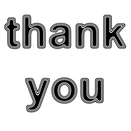 thank you on A white Background.