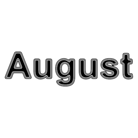 August on A white Background.