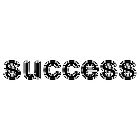 success on A white Background.