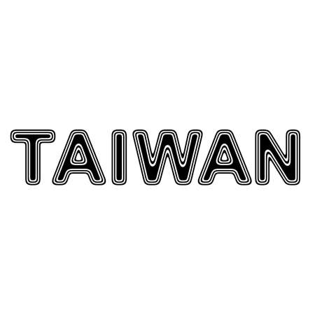 taiwanese: TAIWAN on A white Background.