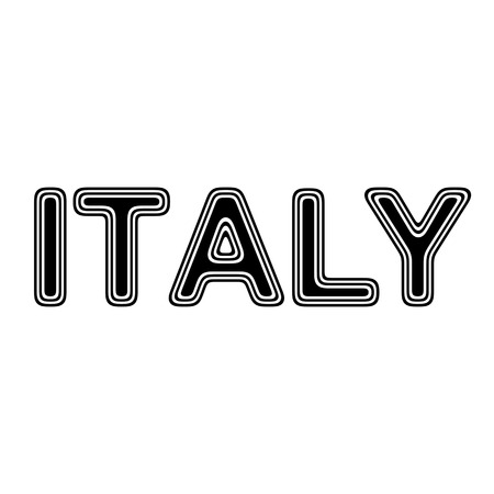 italy background: ITALY on A white Background. Stock Photo