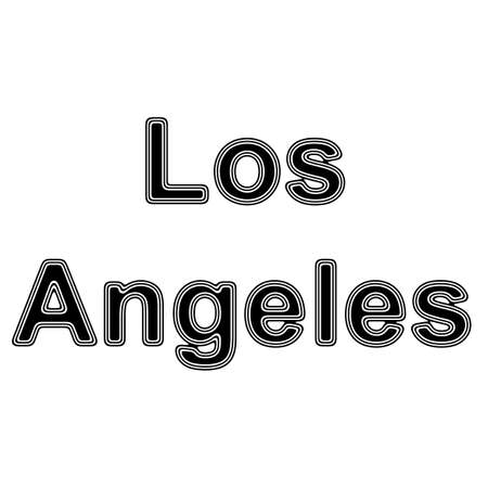 american cities: Los Angeles on A white Background.