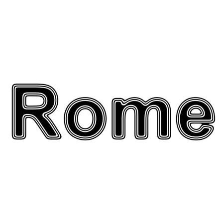 colosseo: Rome on A white Background. Stock Photo