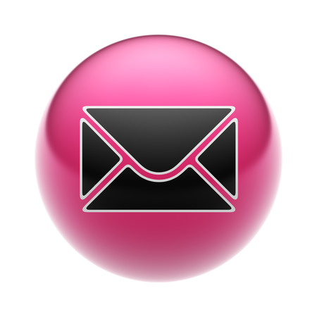 An E-Mail Icon on A red Ball.