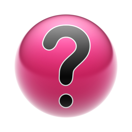 A Question Icon on A red Ball.