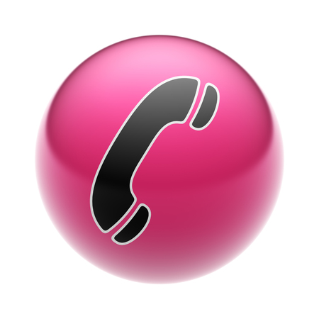 landlines: A Call Icon on A red Ball.