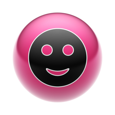 A Smile Icon on A red Ball.