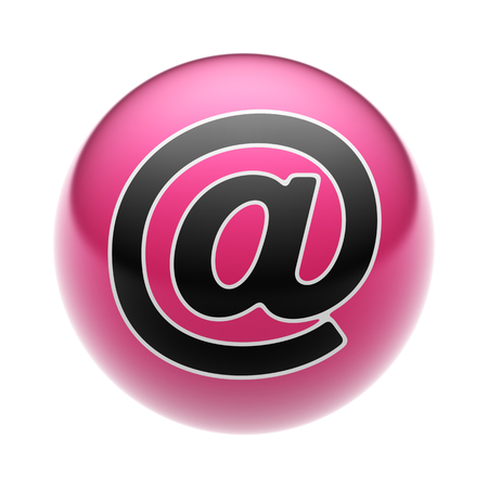 E-Mail Icon on A red Ball.