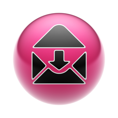 webmail: E-Mail Icon on A red Ball.