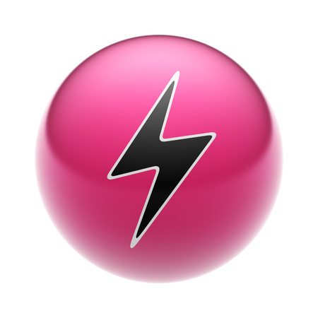 Lightning Icon on A red Ball.