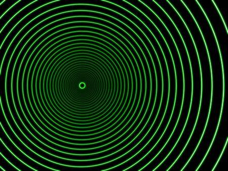 gravedad: Agujero negro en color verde. Foto de archivo