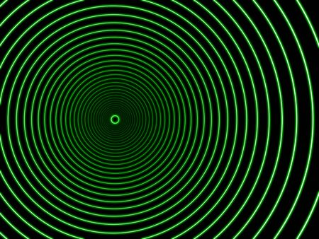 sci: Black Hole in green color.