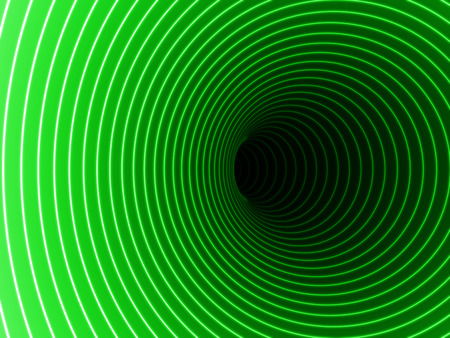 singularity: Black Hole in green color.