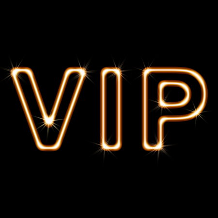 notability: VIP on A black Background. Illustration.