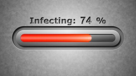 menace: Process of Infecting Stock Photo
