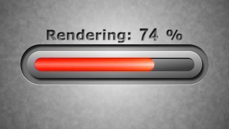 viewport: Process of Rendering Stock Photo