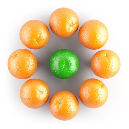 Oranje Stockfoto