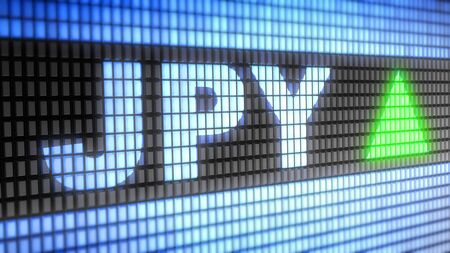 Japanese Yen on screen