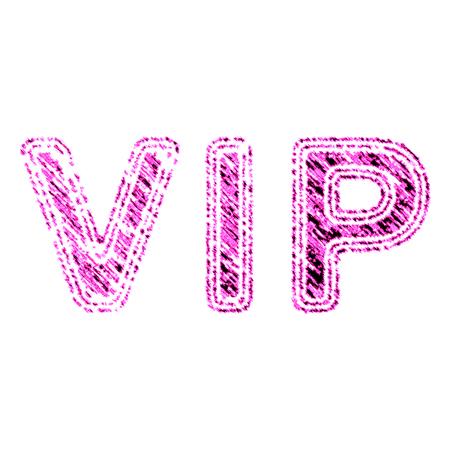 Vip symbol in pink