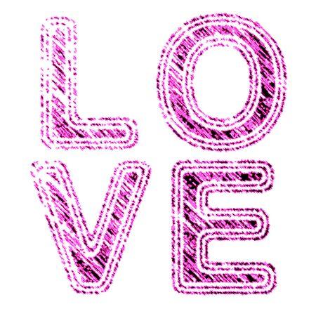 Love symbol in pink Stock Photo