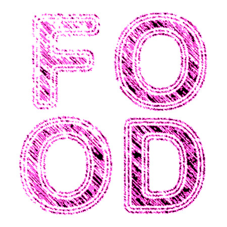 Food symbol in pink Reklamní fotografie