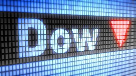 The Dow Jones Industrial Average.